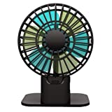 Mini USB Table Computer Desk Personal Fan Quiet Operation , Portable , Adjustable Speed (black) (Color: Black)