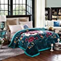 ShineMoon Double Thick Super Warm Bedding Soft Fleece Blanket Comforters with One Side Embossed Couch Blanket Children Bed Sheets Cover Large 200x230cm