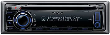 Kenwood KMR-440U Autoradio CD Noir