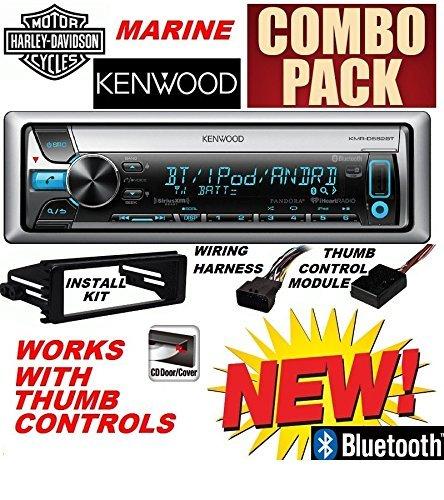 96-2013 Marine Harley Touring Cd Stereo Radio Install Adapter Dash Kit Flht Flhx Flhtc Kenwood