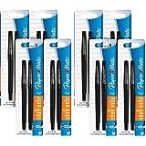 Paper Mate Flair Tip-Guard Medium Tip Felt Porous Pens, 2 Count Black Pens [8432452PP] (Pack of 8) Total 16 pens