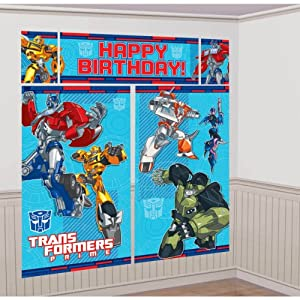 Transformers Prime Party Giant Scene Setter Wall Decorating Kit (5pc)
