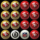 NFL Imperial San Fransisco 49ers Pool Billiard Ball Full Set