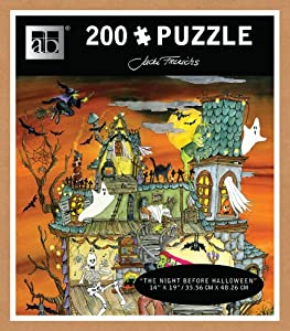 Andrews + Blaine The Night Before Halloween Glitter Puzzle (210-Piece)