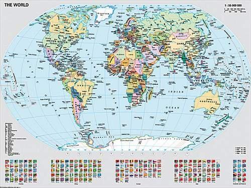 Ravensburger Puzzle 1000 pièces - Carte du monde : politique