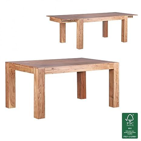 Wohnling Design Tavolo da pranzo 160-240cm allungabile in legno di acacia