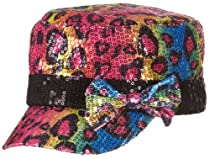 On The Verge Sequin Cheetah Cadet Hat No Size Multi