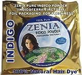 Zenia Brand 100g Pure INDIGO POWDER for hair dye Naturally Black - Indigoferra Tinctoria Wasma in Arabic / Urdu USA W&R BRAND 2011 CROP (BACK HENNA 100% NATURAL - NO PPD - NO CHEMICALS)
