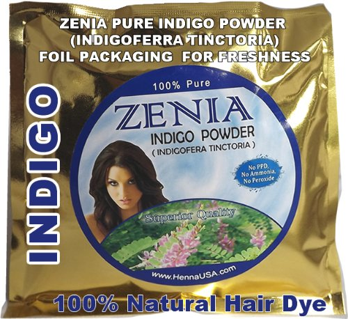 Zenia Brand 100g Pure INDIGO POWDER for hair