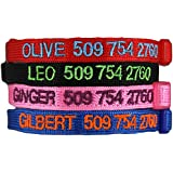 Custom Embroidered Cat Id Collars with Breakaway Safety Release Buckle - Adjustable. Includes Personalized Cat Tag for Added Safety and Cat Id.