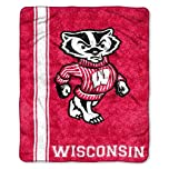 Buy NCAA Wisconsin Badgers 50-Inch-by-60-Inch Sherpa on Sherpa Throw Blanket Jersey Design by Northwest