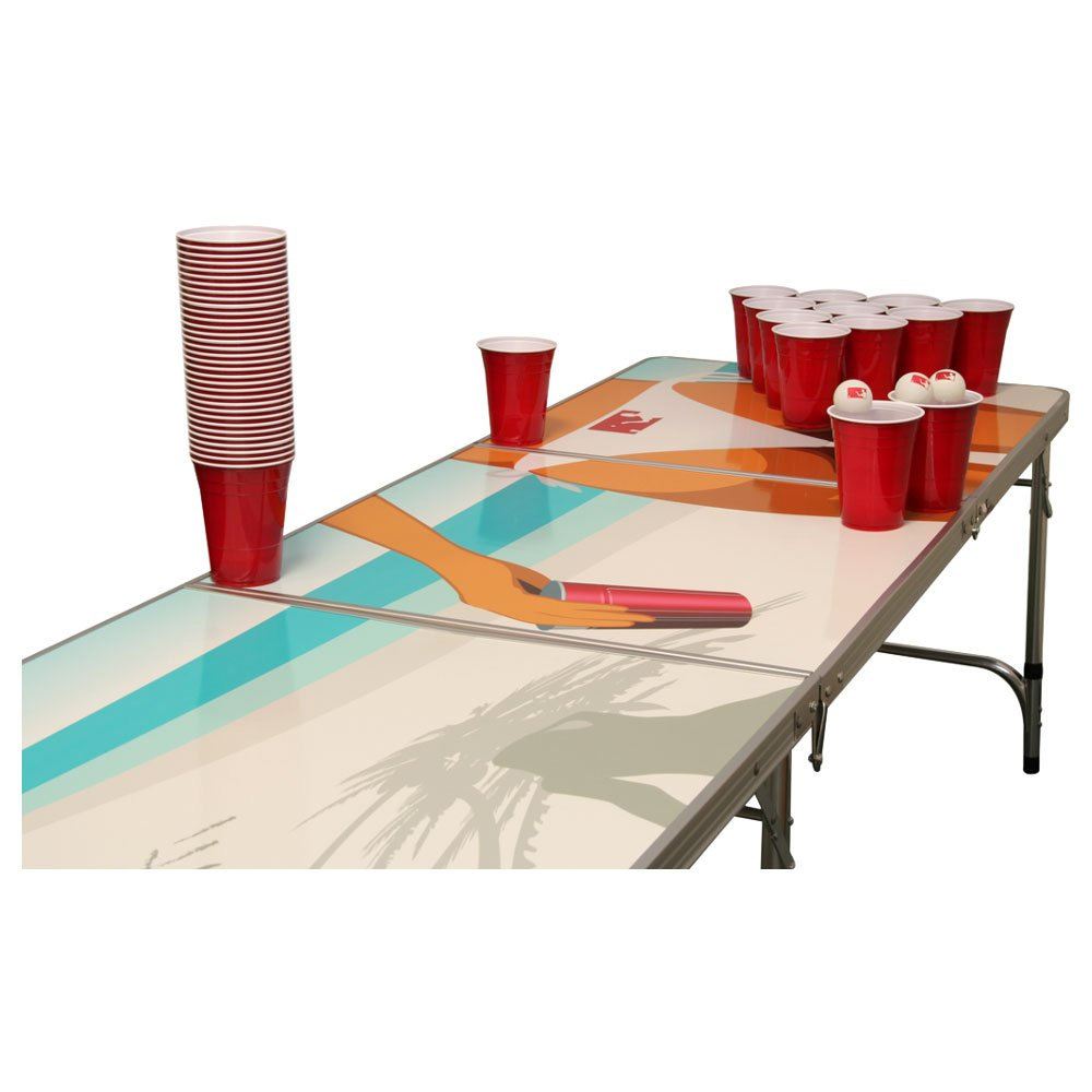 beach beer pong tisch set 1 beer pong tisch inkl 50 solo red cups und 6 b llen g nstig online. Black Bedroom Furniture Sets. Home Design Ideas