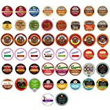 Holiday,Winter and Seasonal Flavors Coffee,Tea,Hot Cocoa and Cider Single Serve and K CUPS for Keurig Brewer (50 Count)