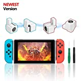 Joy-con Replacement Latches for Nintendo Switch, Yoelike Metal Lock Buckles Repair Tools Kit for Nintendo Switch NS Joy Con with Screwdrivers (Silver) (Color: Silver)