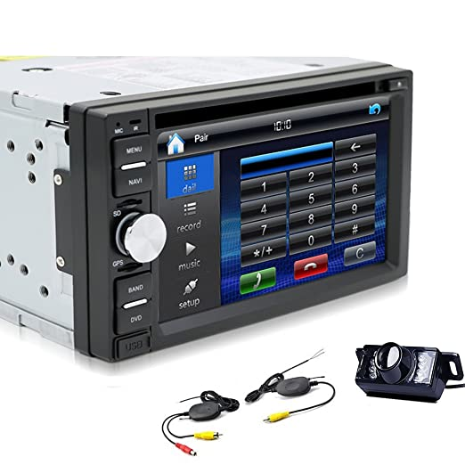 PC 6.2 pulgadas Doble universelle 2DIN DIN EN el tablero Lecteur DVD de navegaciš®n GPS del coche de HD stšŠršŠo AM FM Radio Audio Soporte de Coche audio stšŠršŠo Bluetooth estš&Sca