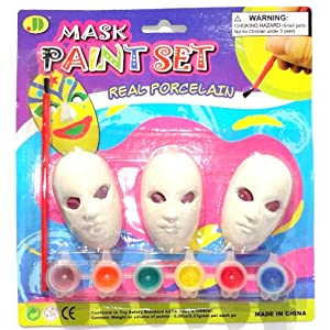 Children's Miniature Mardi Gras Mask Painting Kit