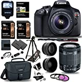 Canon EOS Rebel T6 Digital SLR Camera Kit New Model For T5 EF-S 18-55mm F 3.5-5.6 IS II Lens 50 Polaroid Tripod Memory Cards Canon Case And Accessory Bundle
