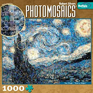 Photomosaic The Starry Night 1000 Pieces Jigsaw Puzzle