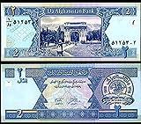 AFGHANISTAN 2 AFGANIS 2002 P 65 UNCIRCULATED PAPER MONEY BANKNOTE