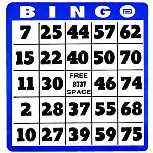 Low Vision Bingo Cards