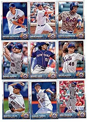 2015 Topps Baseball Cards New York Mets Team Set (Series 1- 15 Cards) Including Curtis Granderson Team Card, David Wright, Jacob deGrom, Daisuke Matsuzaka, Daniel Murphy, Jenrry Mejia, Carlos Torres, Eric Young Jr., Zack Wheeler, Lucas Duda, Dilson Herrer