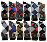 Lords Mens Cotton Dress Socks (12 Pack) Size 10-13 Multicolored