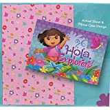 Dora The Explorer Fitted Sheet and Pillow Case - 'Hola Explorers'