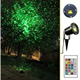 Garden Tree and Outdoor Wall Decoration Laser Lights for Holiday Lighting (Green and Red)