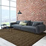 Cozy,Soft and Dense Shag 5ft0in x 7ft...