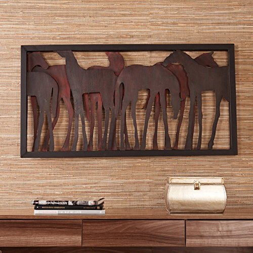 Upton Home Weston Metal Horse Wall Sculpture (Os1889) front-823667