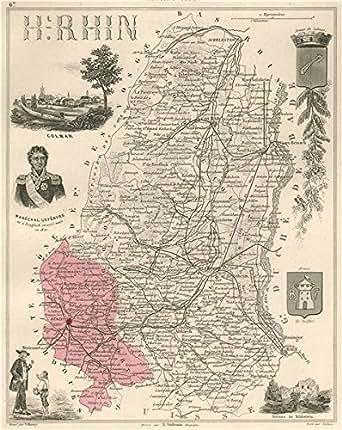 HAUT-RHIN après/after 1870. Département. Colmar. Lefèbvre