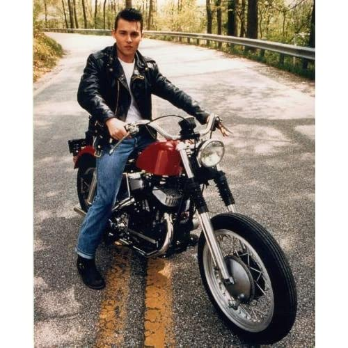 Amazon.com: Johnny Depp Poster Motorcycle, Crybaby #03B 11x17 Master