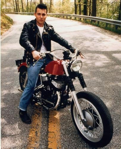 Johnny Depp Poster Motorcycle, Crybaby #03B 24x36in