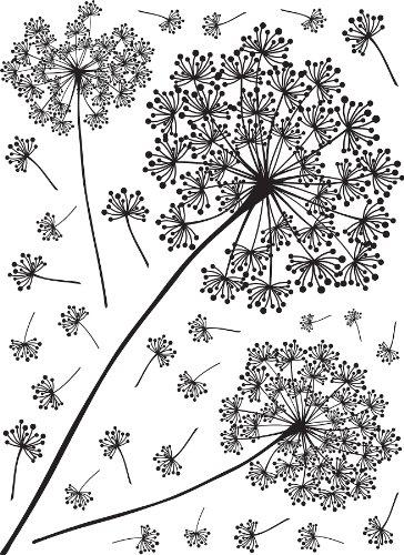 Umbra Pluff Wall Decor : Wall pops wpk peel stick dandelion small art