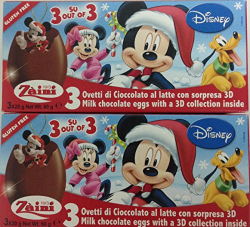 2 x Disney Pixar Christmas Mickey Mouse Chocolate, Free Gift