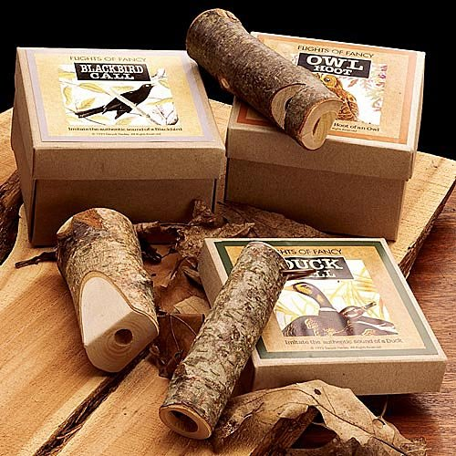 Hand-made Wooden Bird Calls - Set of 5