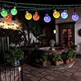 Solar Christmas String Lights,easyDecor 30 LED Ball 21ft Multi-color 8Mode Waterproof Decorative Globe for Thanksgiving,Indoor,Outdoor,Party,Wedding,Patio,Garden Decoration,Holiday,Xmas Tree,Bistro