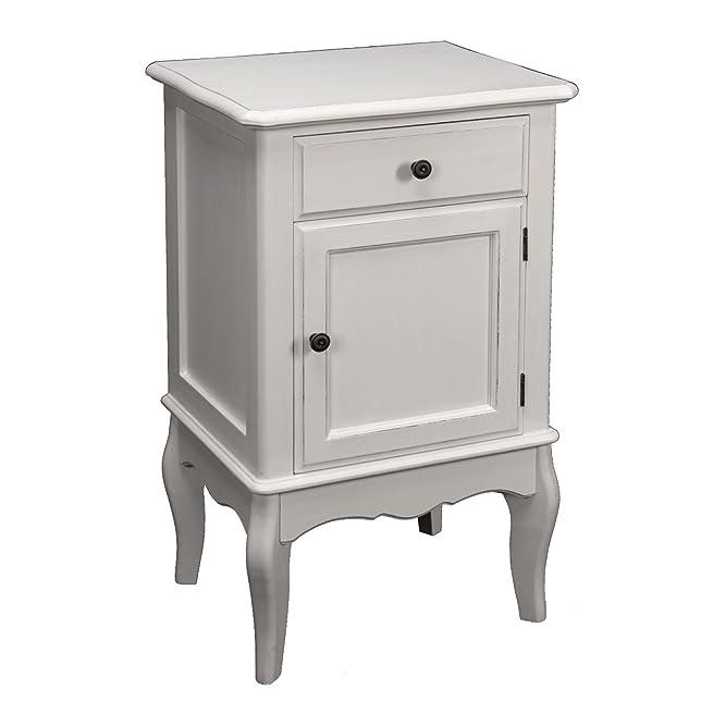 PAME 41453-Tavolo in legno con cassetto e porta, 43 x 73 x 34 cm