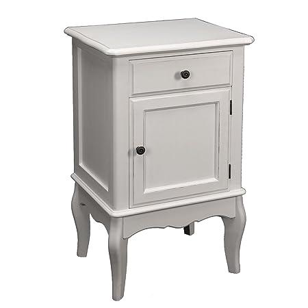 PAME 41453 - Mesa de madera con cajón y puerta, 73 x 43 x 34 cm