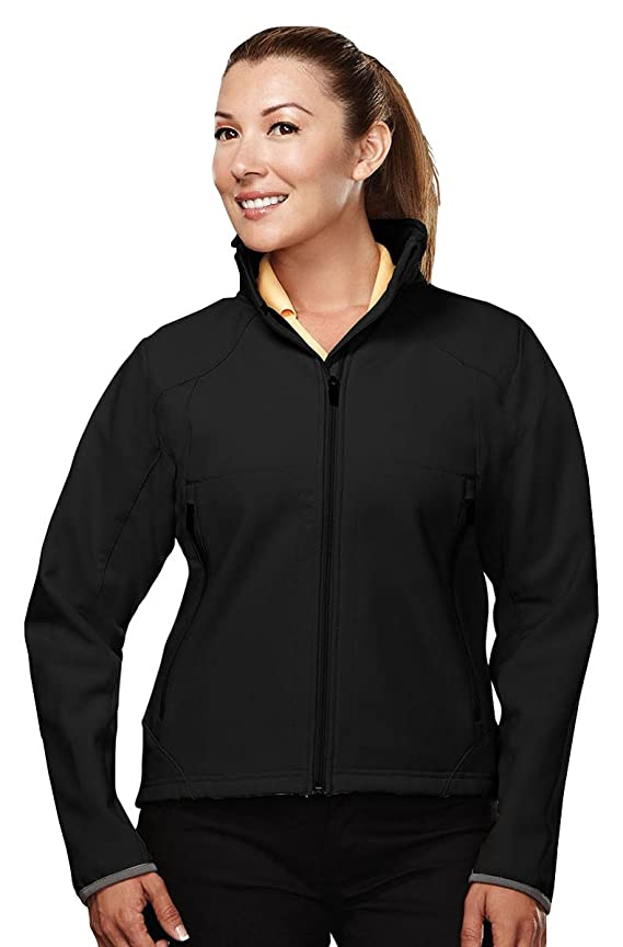 Tri-Mountain Womens poly stretch bonded soft shell jacket