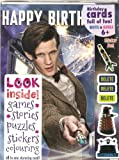 Doctor Who Matt Smith with Tardis MULTI ACTIVITY BIRTHDAY CARD (Mini Comic Book Puzzles Stickers inside)