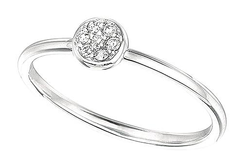0.06 carat Round diamonds wedding anniversary lady man band ring gold white 14K