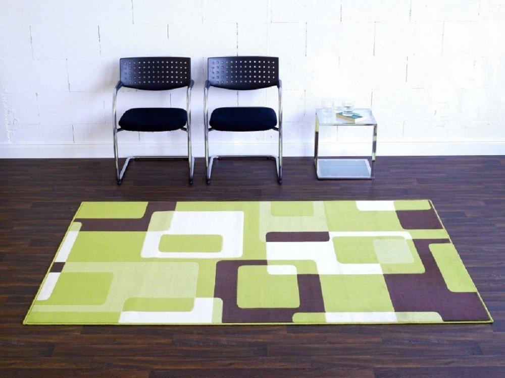 Teppich Retro grün beige braun / moderner Teppich / Wohnzimmerteppich / Wohnzimmerteppich in schönen Farben / Wohnzimmerteppich / Designerteppich in schönen Farben / Qualitätsteppich Designer Teppich Wohnteppich Teppich moderner Wohnzimmer Teppich / Als markantes Accessoire in Ihrem Wohnbereich – der Teppich strahlt einen Ausdruck von Abenteuerlust aus. Der Teppich passt mit seiner Farbgebung in jede moderne Wohnlandschaft. Trendiger Teppich in modischen Farben und Designs – vereint dieser Teppich einzigartige Akzente des Wohlfühlens und Eleganz, der in Ihrem Zuhause für eine angenehme Atmosphäre sorgt. Robust und Strapazierfähig 160 x 230 cm . Dieses Highlight der neuen Kollektion beeindruckt durch einzigartige Farbkombination. Dieses Highlight der neuen Kollektion beeindruckt durch einzigartige Farben als Farbverlauf . Doch seine Besonderheit bekommt dieses Modell durch das ausgefalle Muster, welches in dieser Form nur selten zu finden ist. online bestellen