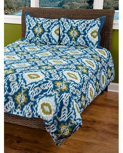 Rizzy Home Blue Seaglass 3-Piece Comforter Set