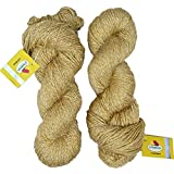 Vardhman Charming Acrylic And Nylon Knitting Wool Brass (200 Gm) Pack Of 2 (200 Gm)