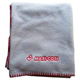 Maxi Cosi Fleece Baby Blanket- Blue (Blue with Red Stritching)