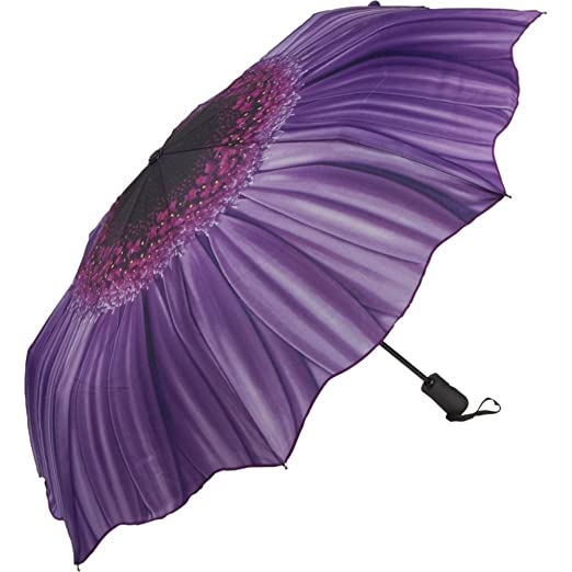Galleria Purple Daisy Folding Umbrella