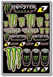 ONE INDUSTRIES MONSTER ENERGY DECAL SHEET (GREEN)