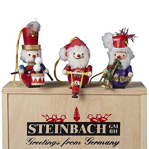 Steinbach Kurt Adler 3-Piece 12 Days of Christmas Ornament Set, Days 10, 11 and 12