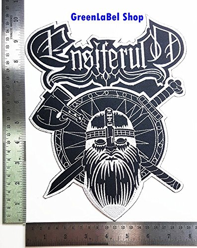 Big Large Jumbo ENSIFERUM Viking Axe Shield Music Band Punk Rock Heavy Metal Rock Music Band Patch Logo Sew Iron on Embroidered Appliques Badge Sign Costume Send Free Registration (Ensiferum Iron compare prices)